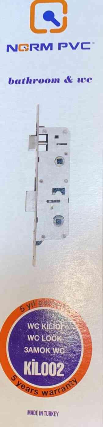 NORM PVC - WC KAPI KİLİDİ 35 MM